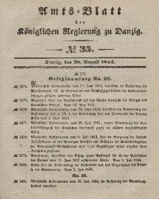 Amts-Blatt der Königlichen Regierung zu Danzig, 28. August 1844, Nr. 35