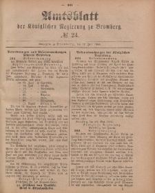 Amtsblatt der Königlichen Preußischen Regierung zu Bromberg, 12. Juni 1885, Nr. 24