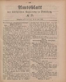 Amtsblatt der Königlichen Preußischen Regierung zu Bromberg, 19. Juni 1885, Nr. 25