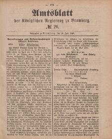 Amtsblatt der Königlichen Preußischen Regierung zu Bromberg, 26. Juni 1885, Nr. 26