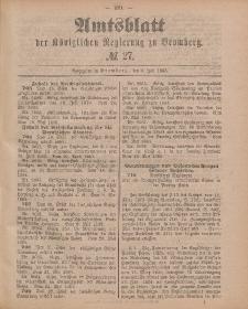 Amtsblatt der Königlichen Preußischen Regierung zu Bromberg, 3. Juli 1885, Nr. 27