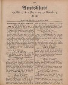 Amtsblatt der Königlichen Preußischen Regierung zu Bromberg, 24. Juli 1885, Nr. 30