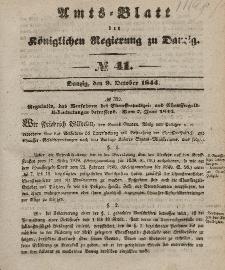 Amts-Blatt der Königlichen Regierung zu Danzig, 9. Oktober 1844, Nr. 41