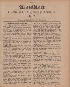 Amtsblatt der Königlichen Preußischen Regierung zu Bromberg, 7. August 1885, Nr. 32