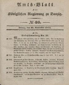Amts-Blatt der Königlichen Regierung zu Danzig, 13. November 1844, Nr. 46