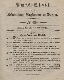 Amts-Blatt der Königlichen Regierung zu Danzig, 27. November 1844, Nr. 48