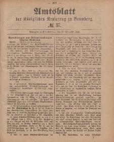 Amtsblatt der Königlichen Preußischen Regierung zu Bromberg, 11. September 1885, Nr. 37