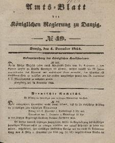 Amts-Blatt der Königlichen Regierung zu Danzig, 4. Dezember 1844, Nr. 49