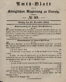 Amts-Blatt der Königlichen Regierung zu Danzig, 18. Dezember 1844, Nr. 51
