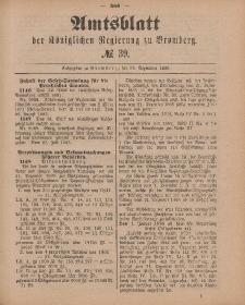 Amtsblatt der Königlichen Preußischen Regierung zu Bromberg, 25. September 1885, Nr. 39