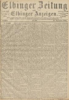 Elbinger Zeitung und Elbinger Anzeigen, Nr. 268 Dienstag 16. November 1886