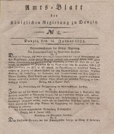Amts-Blatt der Königlichen Regierung zu Danzig, 14. Januar 1835, Nr. 2
