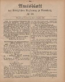 Amtsblatt der Königlichen Preußischen Regierung zu Bromberg, 11. Dezember 1885, Nr. 50