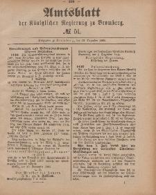 Amtsblatt der Königlichen Preußischen Regierung zu Bromberg, 18. Dezember 1885, Nr. 51