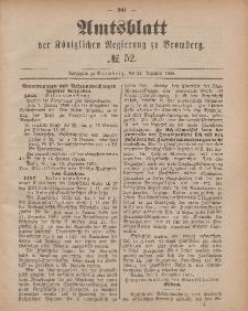 Amtsblatt der Königlichen Preußischen Regierung zu Bromberg, 24. Dezember 1885, Nr. 52
