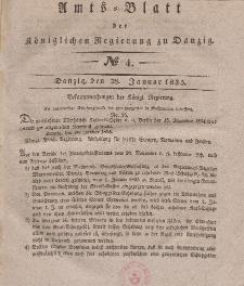 Amts-Blatt der Königlichen Regierung zu Danzig, 28. Januar 1835, Nr. 4