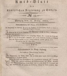 Amts-Blatt der Königlichen Regierung zu Danzig, 25. März 1835, Nr. 12