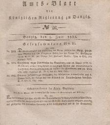 Amts-Blatt der Königlichen Regierung zu Danzig, 1. Juli 1835, Nr. 26