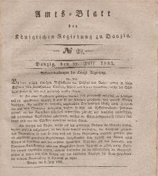 Amts-Blatt der Königlichen Regierung zu Danzig, 22. Juli 1835, Nr. 29