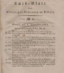 Amts-Blatt der Königlichen Regierung zu Danzig, 4. November 1835, Nr. 44
