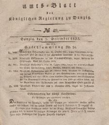 Amts-Blatt der Königlichen Regierung zu Danzig, 9. Dezember 1835, Nr. 49