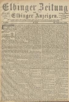 Elbinger Zeitung und Elbinger Anzeigen, Nr. 274 Dienstag 23. November 1886