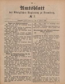 Amtsblatt der Königlichen Preußischen Regierung zu Bromberg, 13. Januar 1888, Nr. 2