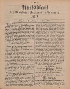 Amtsblatt der Königlichen Preußischen Regierung zu Bromberg, 20. Januar 1888, Nr. 3