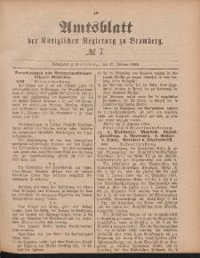 Amtsblatt der Königlichen Preußischen Regierung zu Bromberg, 17. Februar 1888, Nr. 7
