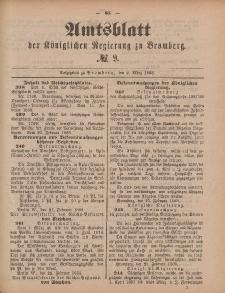 Amtsblatt der Königlichen Preußischen Regierung zu Bromberg, 2. März 1888, Nr. 9