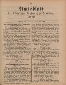 Amtsblatt der Königlichen Preußischen Regierung zu Bromberg, 9. März 1888, Nr. 10
