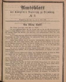 Amtsblatt der Königlichen Preußischen Regierung zu Bromberg, 16. März 1888, Nr. 11