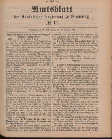 Amtsblatt der Königlichen Preußischen Regierung zu Bromberg, 30. März 1888, Nr. 13