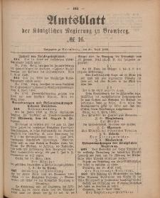 Amtsblatt der Königlichen Preußischen Regierung zu Bromberg, 20. April 1888, Nr. 16