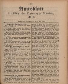 Amtsblatt der Königlichen Preußischen Regierung zu Bromberg, 4. Mai 1888, Nr. 18