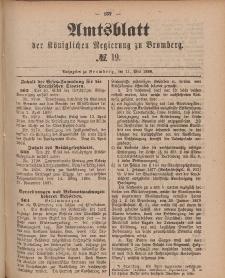 Amtsblatt der Königlichen Preußischen Regierung zu Bromberg, 11. Mai 1888, Nr. 19