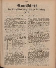 Amtsblatt der Königlichen Preußischen Regierung zu Bromberg, 25. Mai 1888, Nr. 21