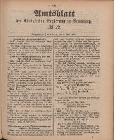 Amtsblatt der Königlichen Preußischen Regierung zu Bromberg, 1. Juni 1888, Nr. 22