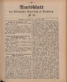 Amtsblatt der Königlichen Preußischen Regierung zu Bromberg, 8. Juni 1888, Nr. 23
