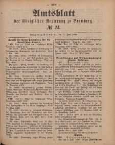 Amtsblatt der Königlichen Preußischen Regierung zu Bromberg, 15. Juni 1888, Nr. 24