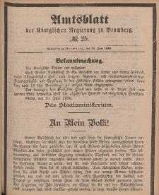 Amtsblatt der Königlichen Preußischen Regierung zu Bromberg, 22. Juni 1888, Nr. 25