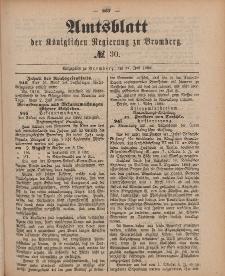 Amtsblatt der Königlichen Preußischen Regierung zu Bromberg, 27. Juli 1888, Nr. 30
