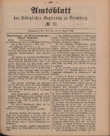 Amtsblatt der Königlichen Preußischen Regierung zu Bromberg, 10. August 1888, Nr. 32
