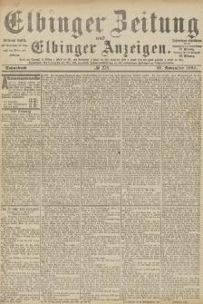 Elbinger Zeitung und Elbinger Anzeigen, Nr. 278 Sonnabend 27. November 1886