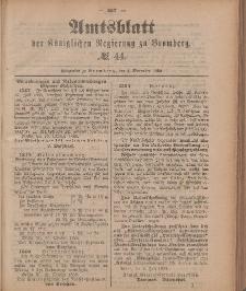 Amtsblatt der Königlichen Preußischen Regierung zu Bromberg, 2. November 1888, Nr. 44