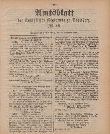 Amtsblatt der Königlichen Preußischen Regierung zu Bromberg, 30. November 1888, Nr. 48