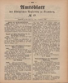 Amtsblatt der Königlichen Preußischen Regierung zu Bromberg, 7. Dezember 1888, Nr. 49