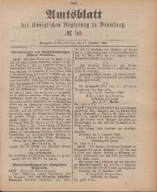 Amtsblatt der Königlichen Preußischen Regierung zu Bromberg, 14. Dezember 1888, Nr. 50