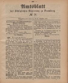 Amtsblatt der Königlichen Preußischen Regierung zu Bromberg, 21. Dezember 1888, Nr. 51