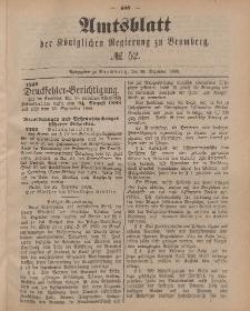 Amtsblatt der Königlichen Preußischen Regierung zu Bromberg, 28. Dezember 1888, Nr. 52